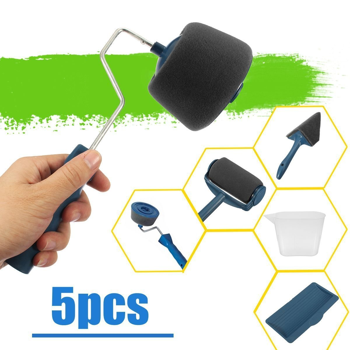 【Last Day Promotion& 50% OFF】 Paint Roller Brush Painting Handle Tool! - 5 PCS