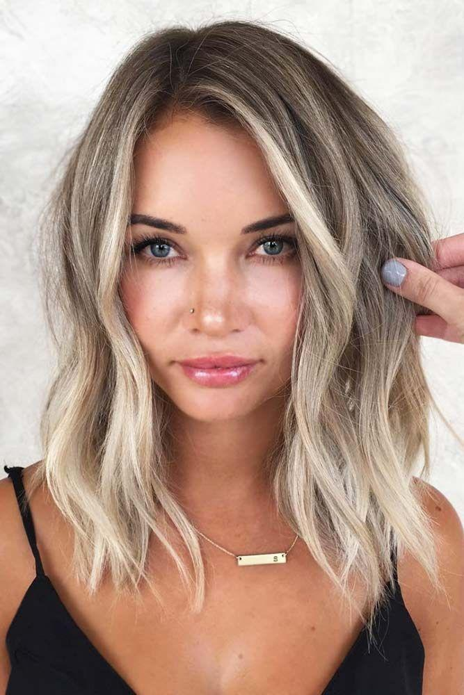 2020 Fashion Ombre Blonde Wigs Ash Blonde Wig With Bangs