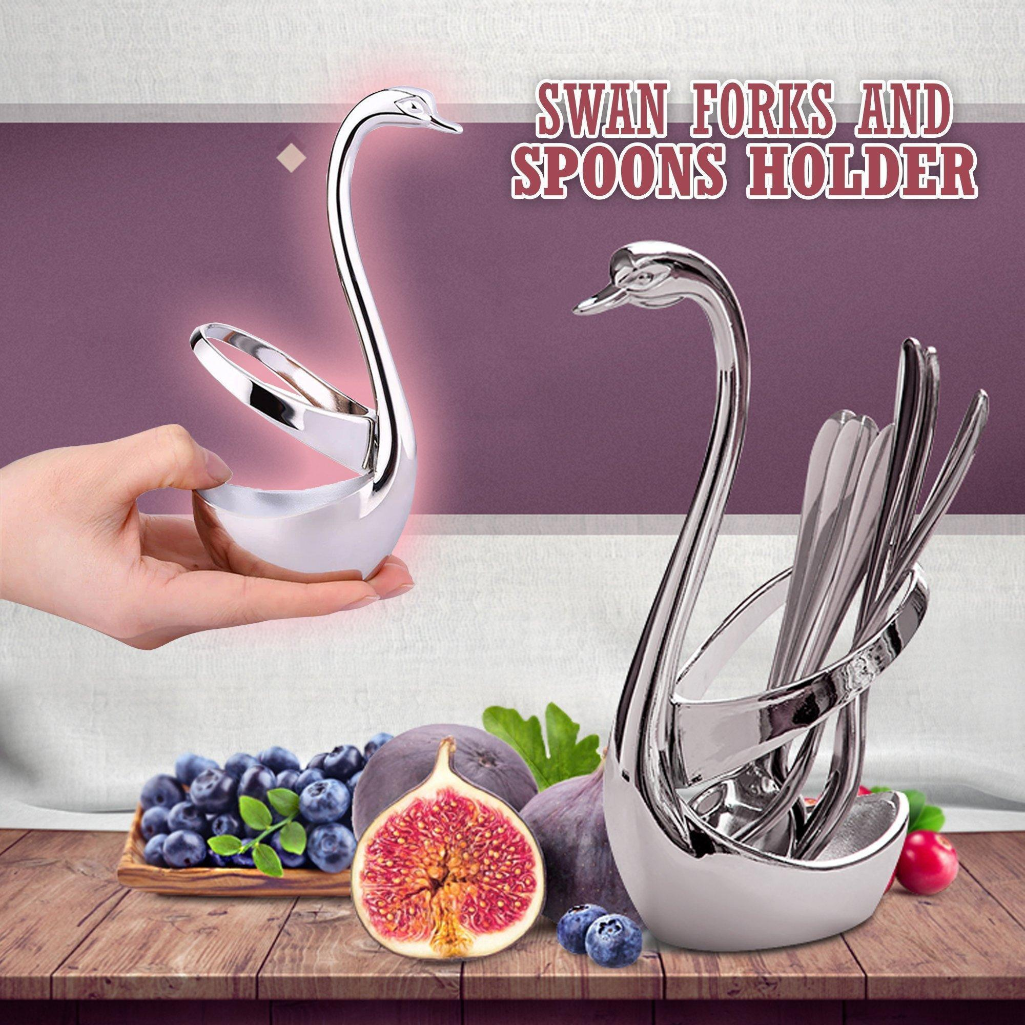 Swan Forks and Spoons Holder