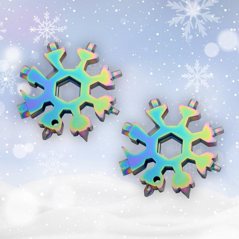 18-in-1 stainless steel snowflakes multi-tool | Shipping Within 24 Hours