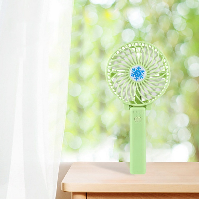 1Pc Mini Size Handheld Fan ABS Portable Fan for Office and Outdoor (Battery not included)