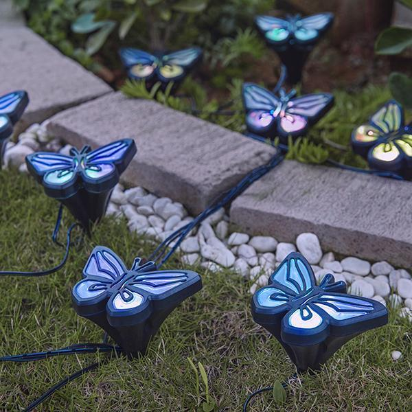 4 Pcs Solar-Powered Butterfly Lights