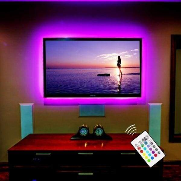 USB Powered LED Strip Light TV Backlighting Home Theater Lighting for TV Computer Screen Television with Remote Control 0.5m 1m 2m