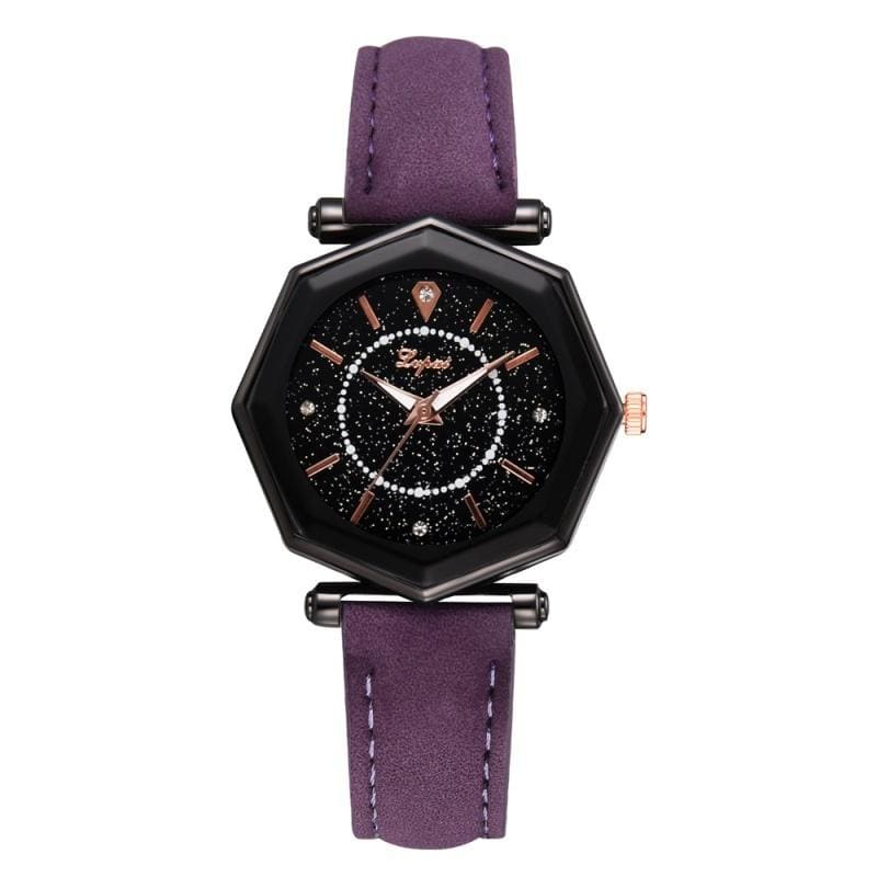 Valentine's Day Women Watches Casual Starry Leather Watch Fashion Luxury Brand Female Watch Gift