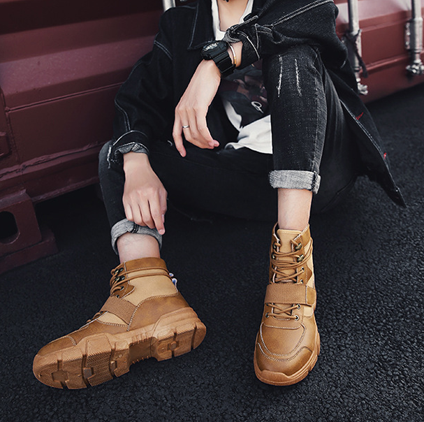 Leather Martin Boots