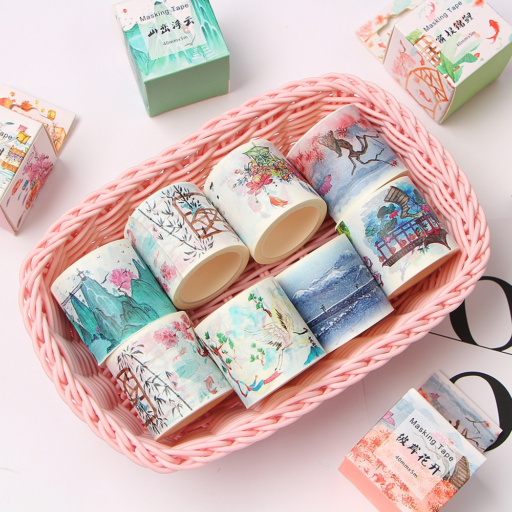 Landscape Vintage Scenery Decoration Washi Tape DIY Planner Diary Scrapbooking Masking Tape