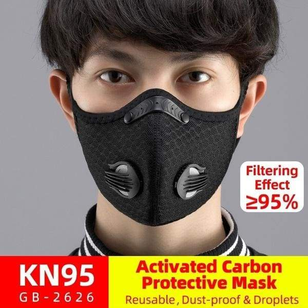 Outdoor Protective Mask Bicycle Cycling Face Mask Warm Mask Anti-fog Activated Carbon Kn95 Mask