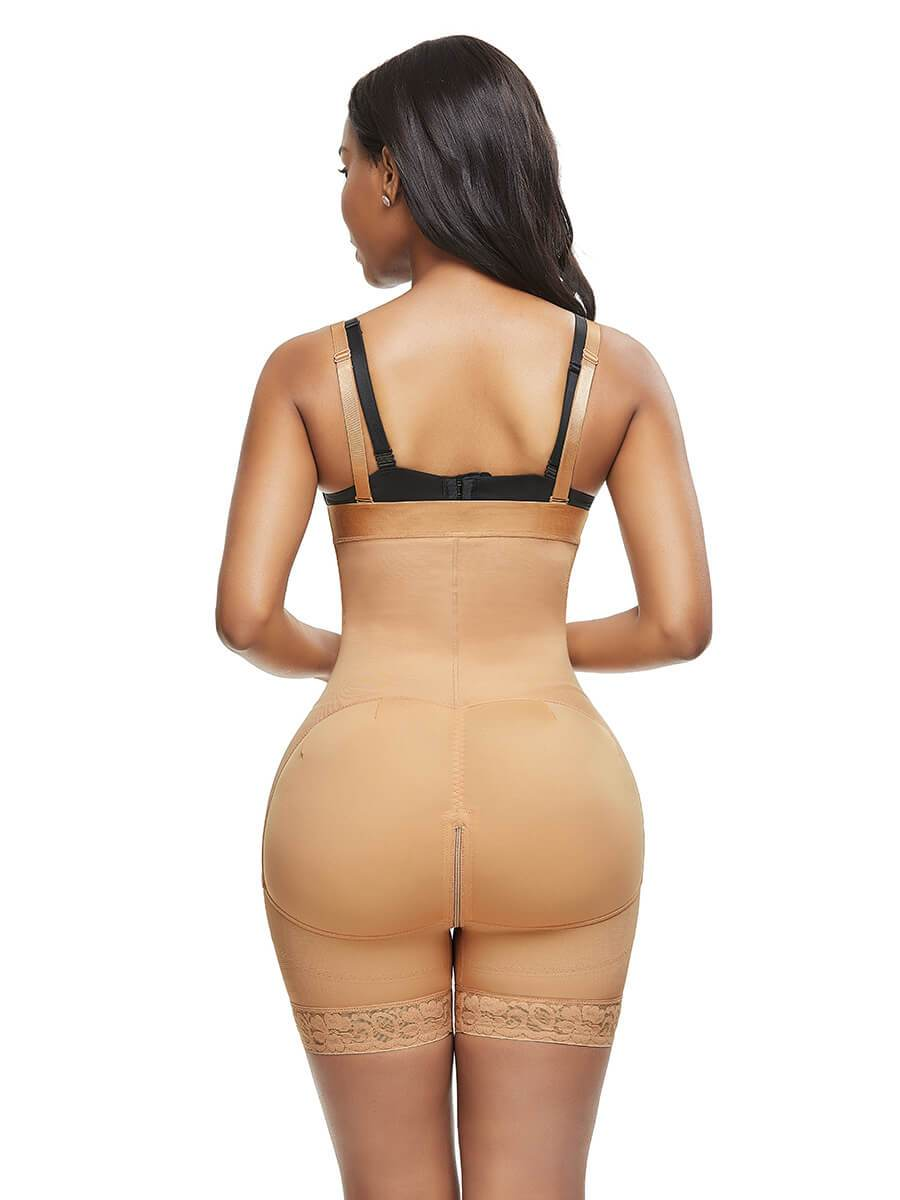 okiwilldo Zippered Shapewear Tummy Control Shorts