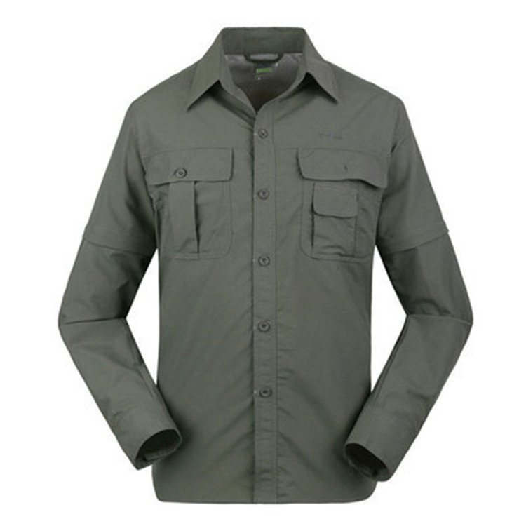 Men's Outdoor Breathable Work Shirt - Can be detached to short sleeves