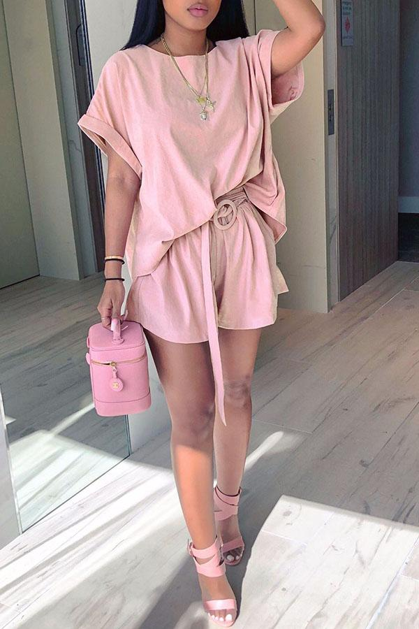 Wide Sleve Top & Shorts