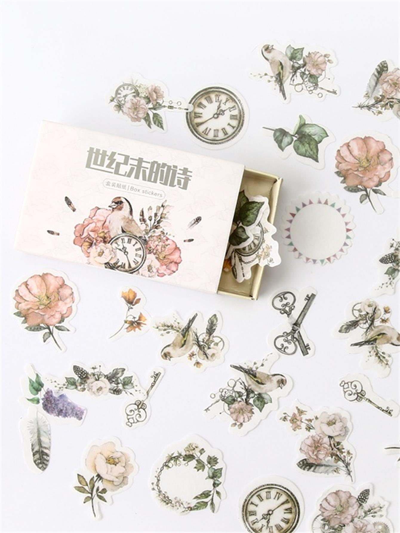 Flower Shaped Decal 40pcs