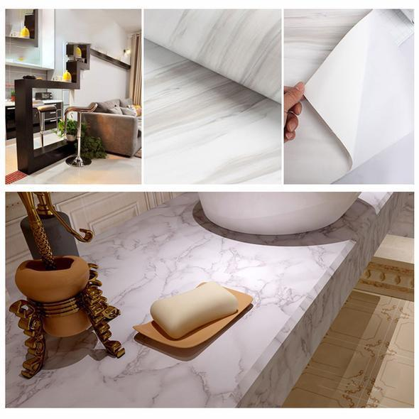 Waterproof Marble Wallpaper(23.4*39 Inch)