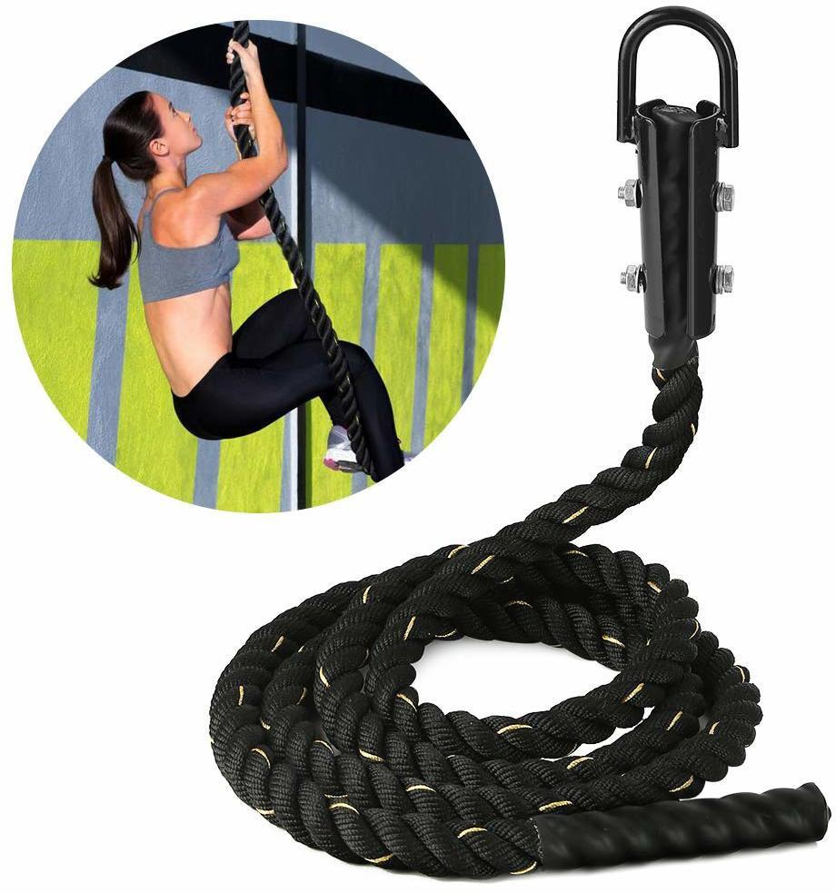 Dolphy Exercise Gym Training Climbing Rope for Indoors and Outdoors23 ft (7 Meter) Black  (Length: 7 m, Diameter: 38 mm)