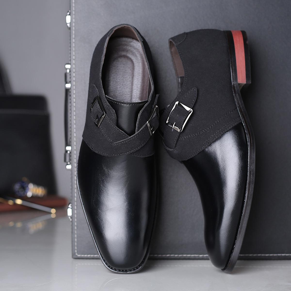 TaoBao PU Leather with Business Shoes
