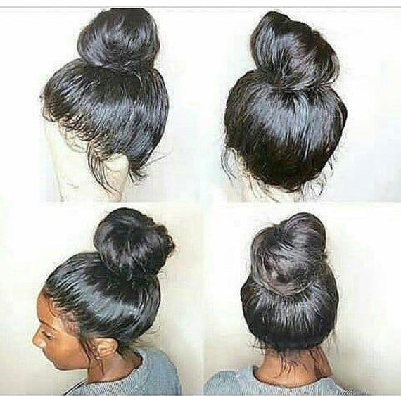 Lace Front Black Wig blunt cut bob wig Lace hair cheap pre plucked 360 lace frontal with bundles
