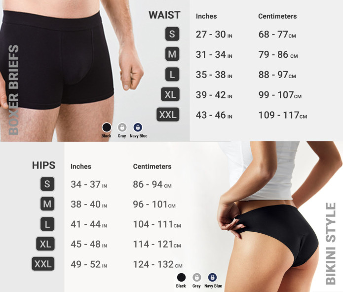 Perfect underwear-You Can Wear For Weeks-size list is at the bottom