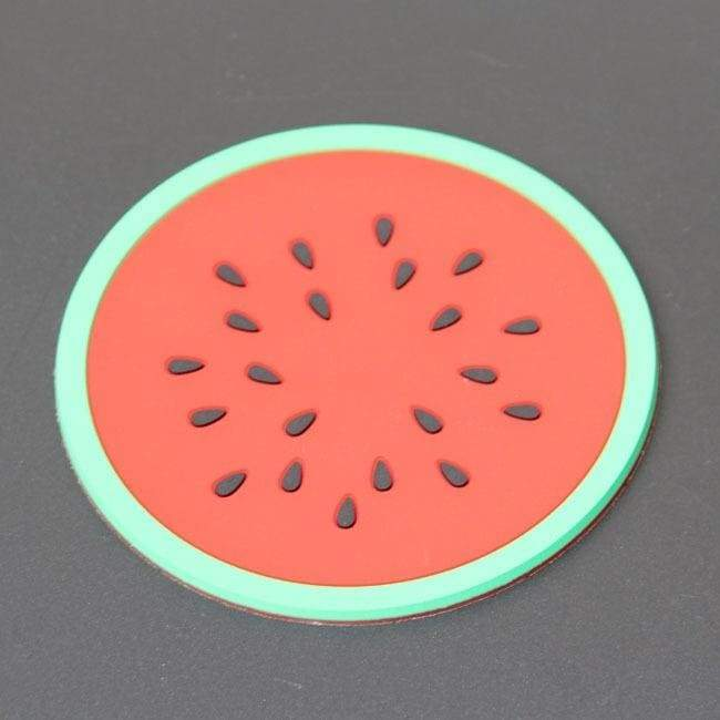 Creative Colorful jelly fruit moulding cuppad Silica gel cup pad anti-skid and heat insulation cuppad