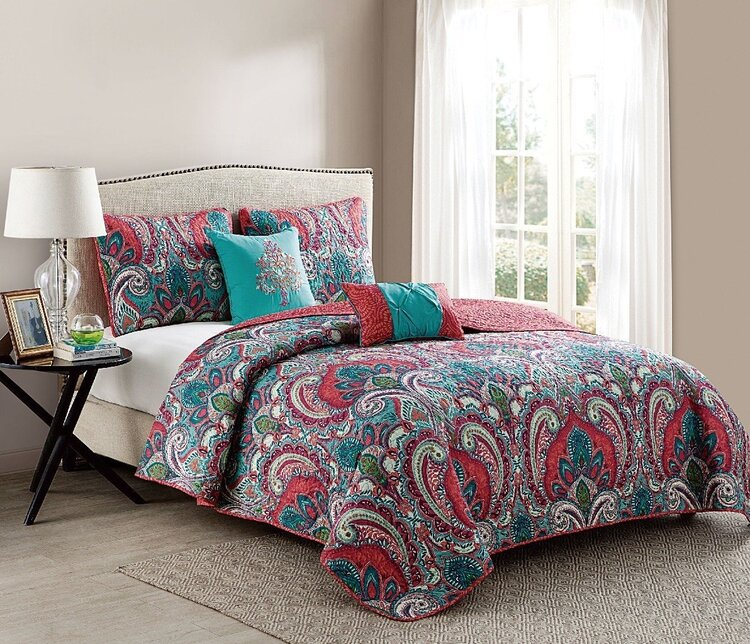 VCNY Home Casa Real Paisley 4/5-Piece Reversible Duvet Cover Set