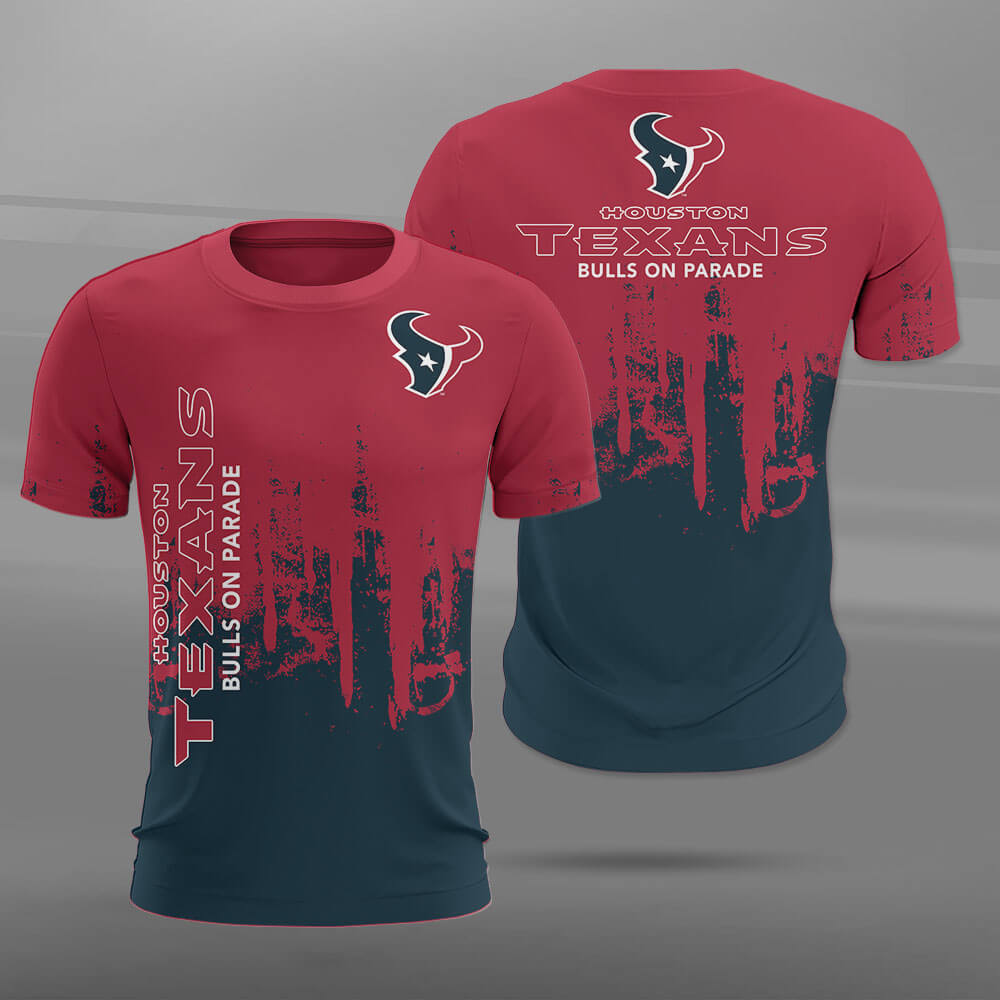 Houston Texans T-shirt 3D new style Short Sleeve