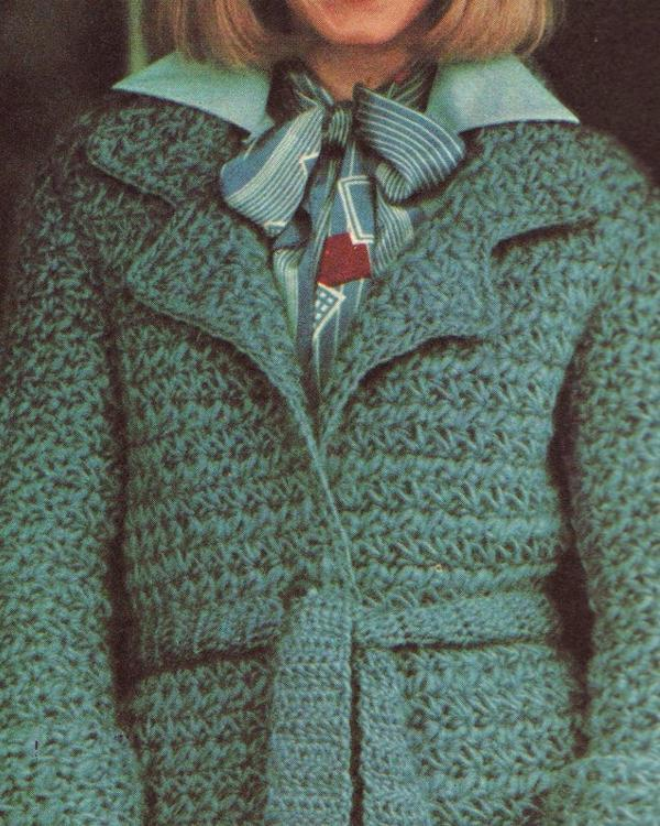 Crochet Pattern Star Stitch Belted Coat