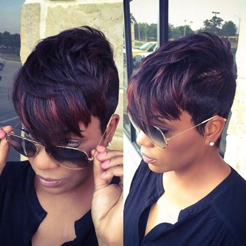 Luna Wig A04 Women Short Straight Layered with Bangs