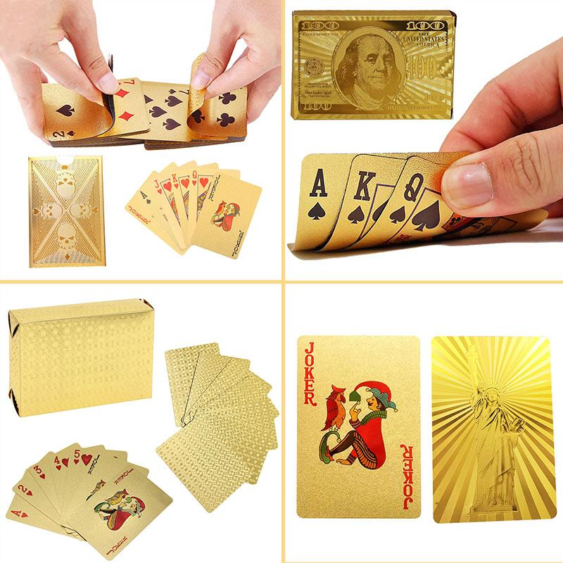Luxury Gift box 24K Gold Foil Poker Playing Cards