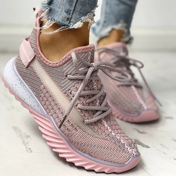 Lemmikshoes Net Surface Breathable Lace-Up Yeezy Sneakers