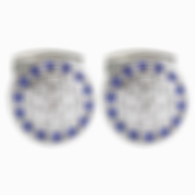Cufflinks Classic Vintage Brooch Jewelry Blue For Daily Formal