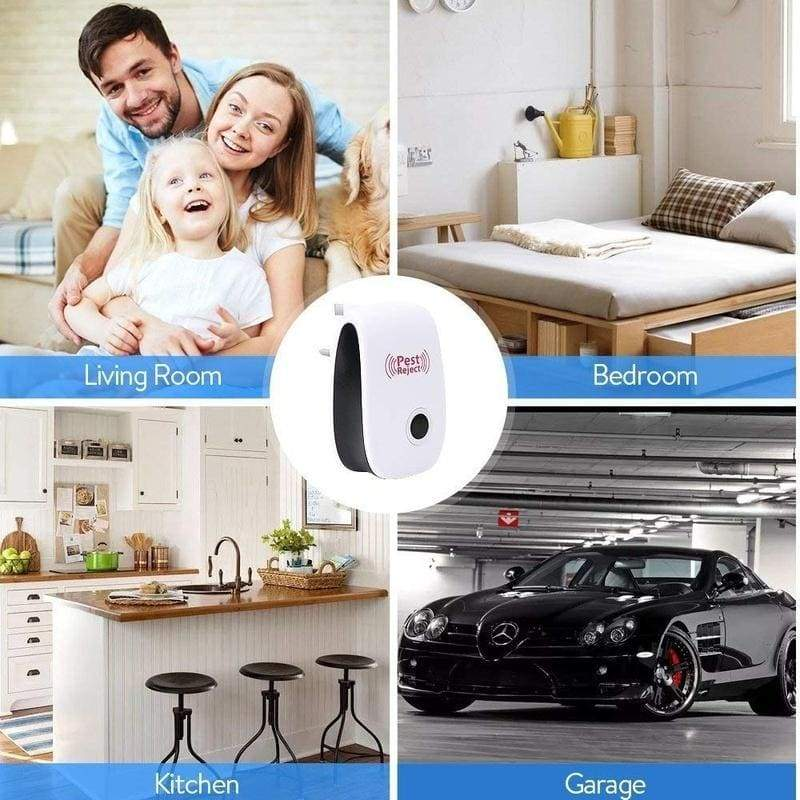 Enhanced Version Electronic Ultrasonic Anti Mosquito Insect Repeller Rat Mouse Cockroach Pest Reject Repellent EU/US Plug
