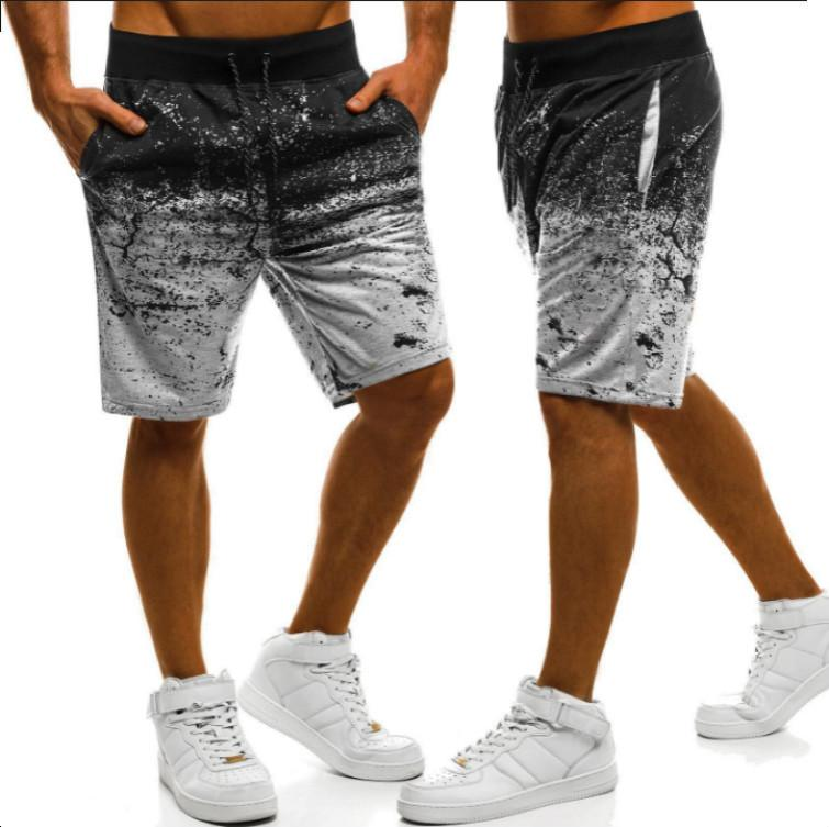 Men's Fitness Short Pants 3D Printed Breathable