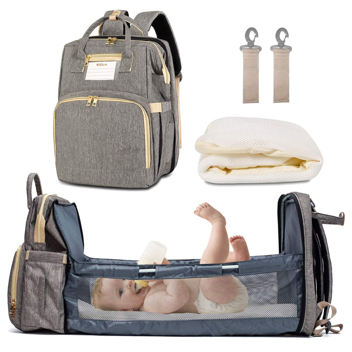 【BUY 2 FREE SHIPPING】New portable multifunctional folding bed mom bag
