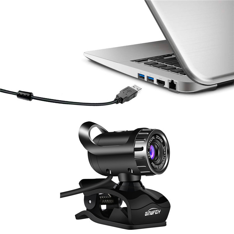 HD Live Computer Camera with Builti-in Digital Microphone, Webcam with Microphone for Video Calling Game - 60% OFF Limited Sale