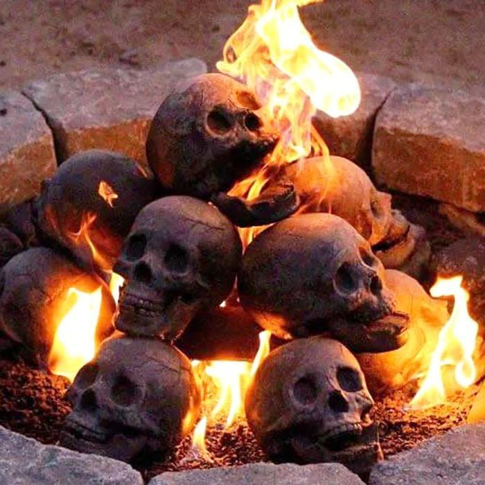 Buy 5 Free 3 Halloween Flash Sale-Terrifying Human Skull Fire Pit