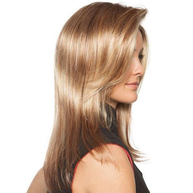 KAMI 092 Heat-Friendly Middle Length Straight Synthetic Wig for Women