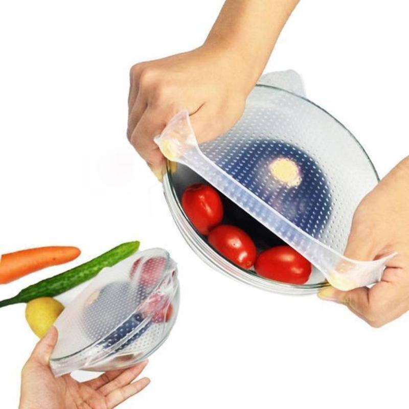 BREEZYLIVE Reusable Stretchable Eco Silicone Food Wrap Bowl Cover
