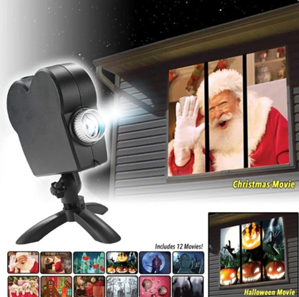 🔥Halloween/CHRISTMAS Hot Sale --Window Projector!