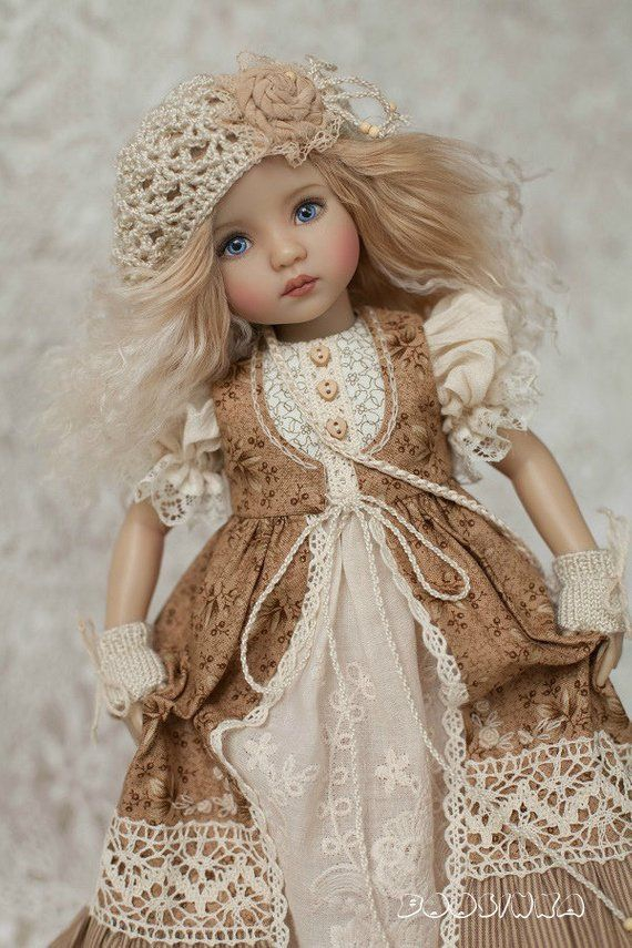 👧👧Little Darling Dianna Effner Doll with dress💝Lolita Style#8