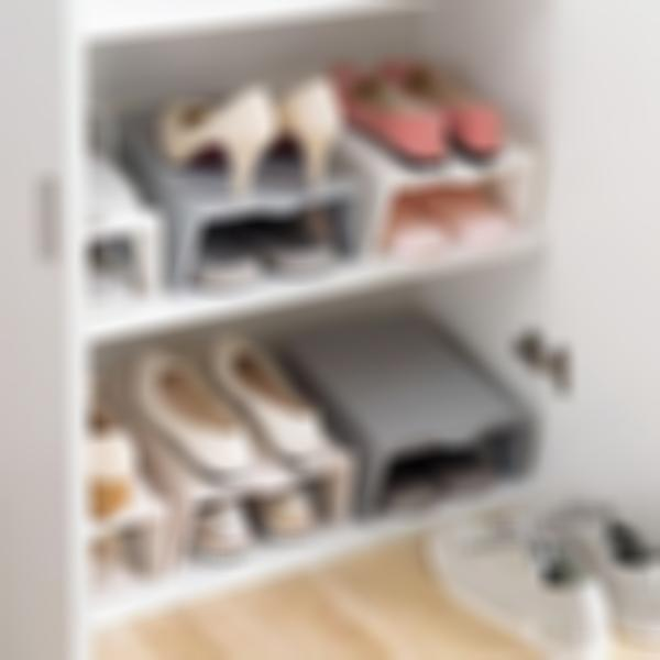 Space Saving Storage Solution - Stackable Shoe Rack