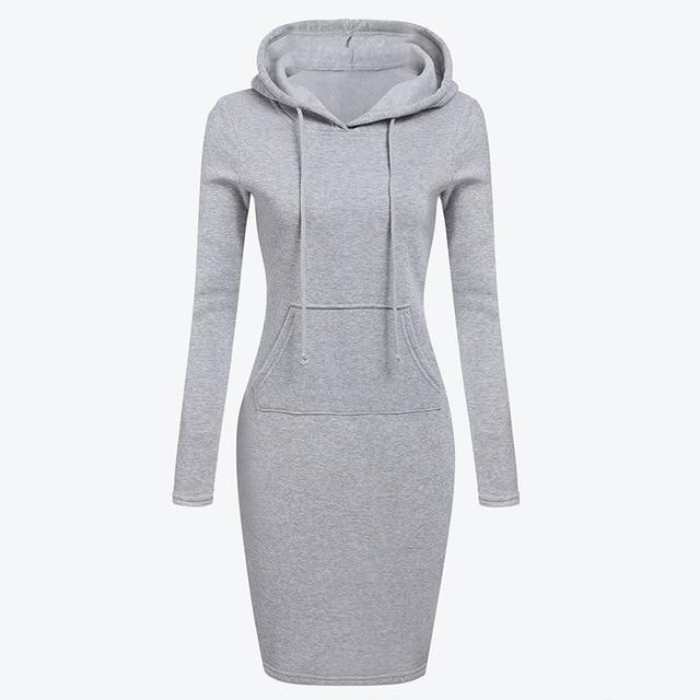 Winter Casual Solid Hoodies with Pockets