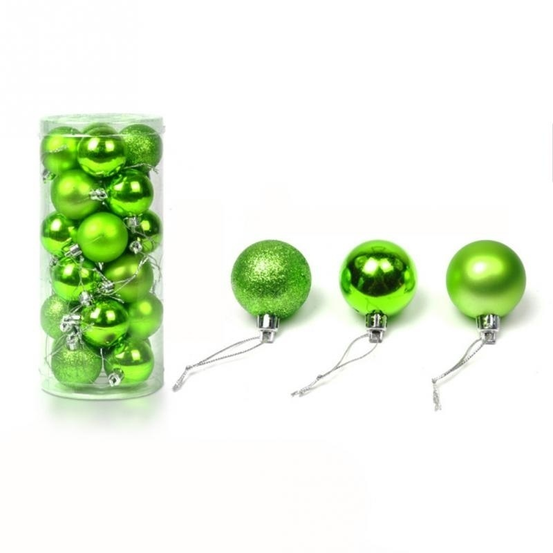 Christmas Tree Decor Ball Bauble Hanging Xmas Party Ornament Decorations for Home Christmas Decorations 24pcs/set 4cm