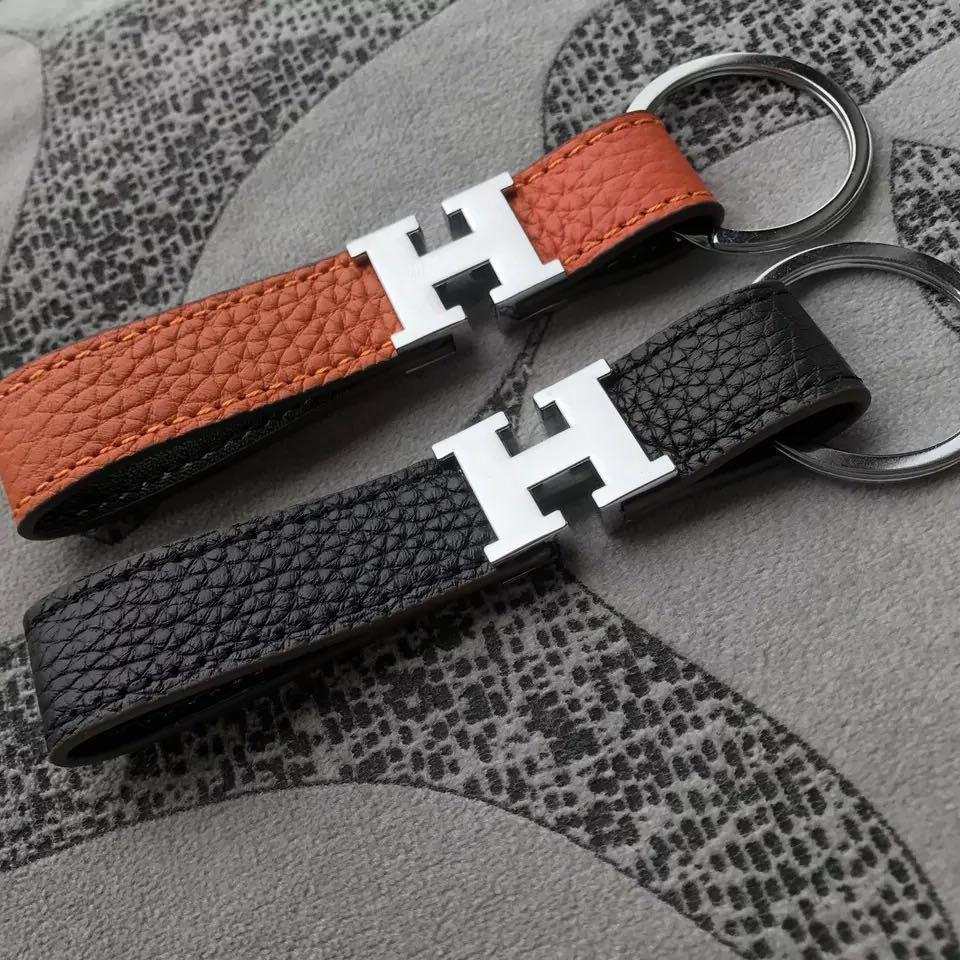 Lmfens H Style Luxury Leather Car Key Chain  for Men Women (Buy 2 Free Shipping)