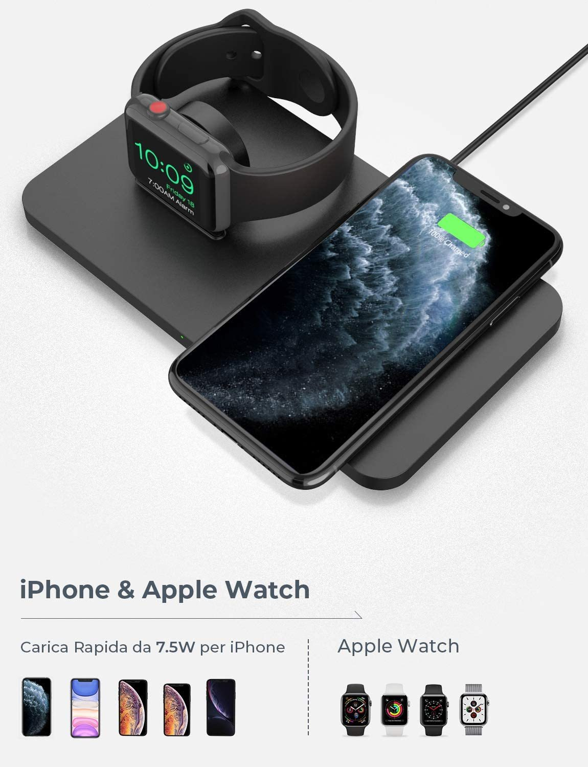Wireless Charging Pad with iWatch