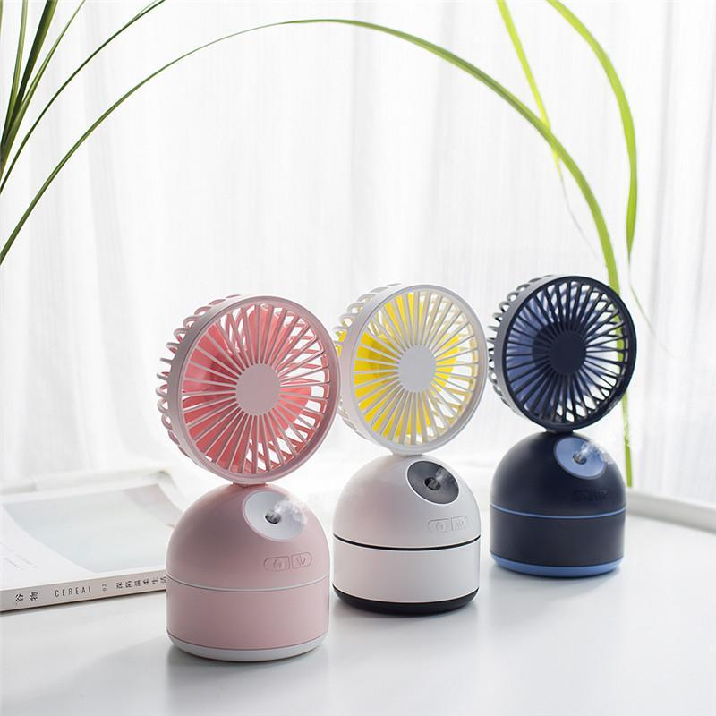 Portable Misting Handheld Personal Cooling Fan with USB Rechargeable Battery Operated Water Spray Desk Small Fan