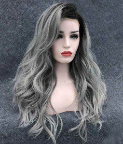 Lace Frontal Wigs For Women Gray Wigs Smoky Grey Hair Grey Hair In Your 20S