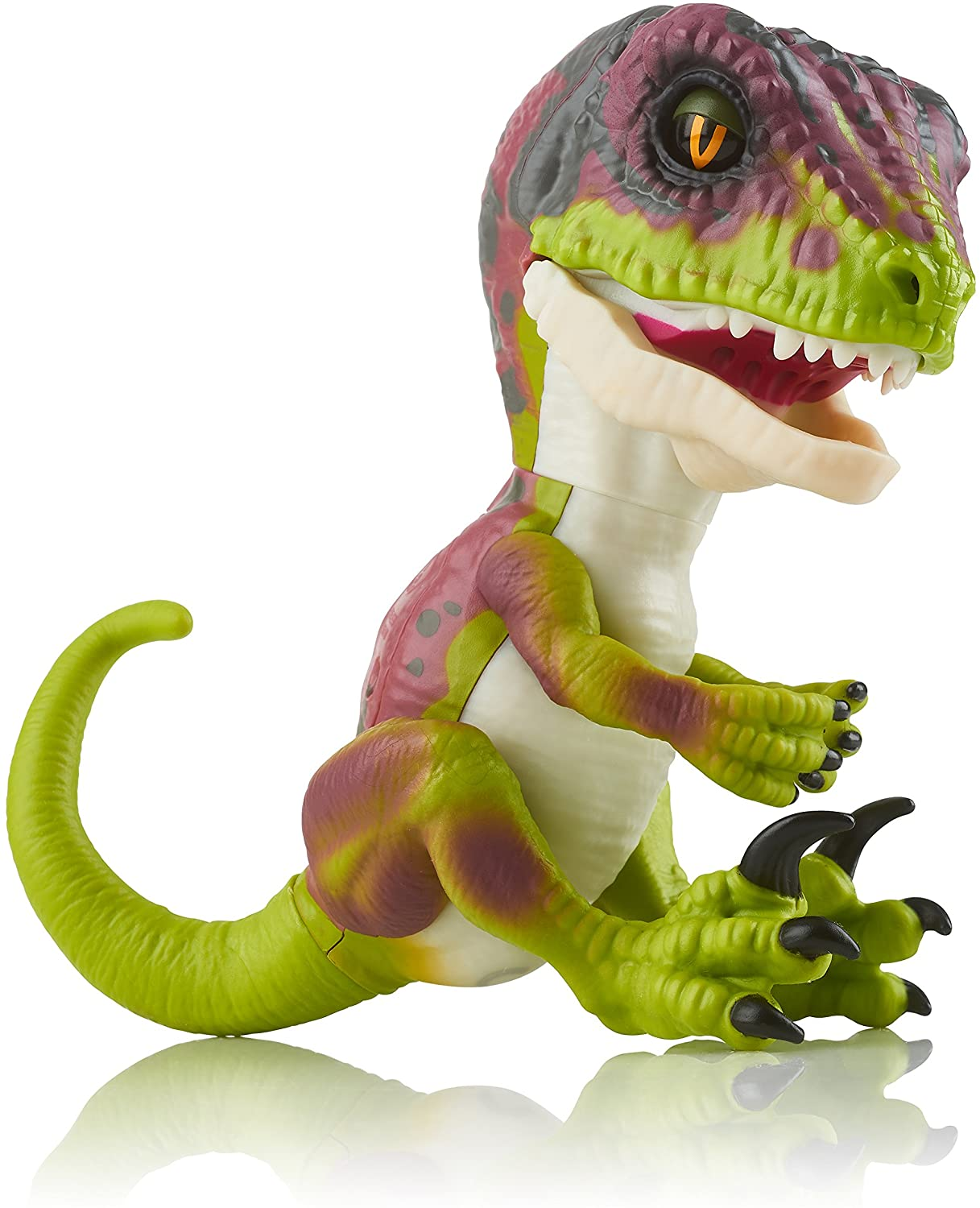 fingerlings wild raptor-invisible (green)-interactive collection dinosaur