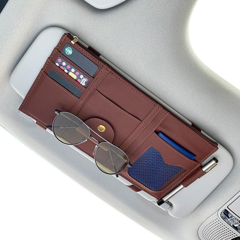 Car Storage Bag Sunglass Card Organizer