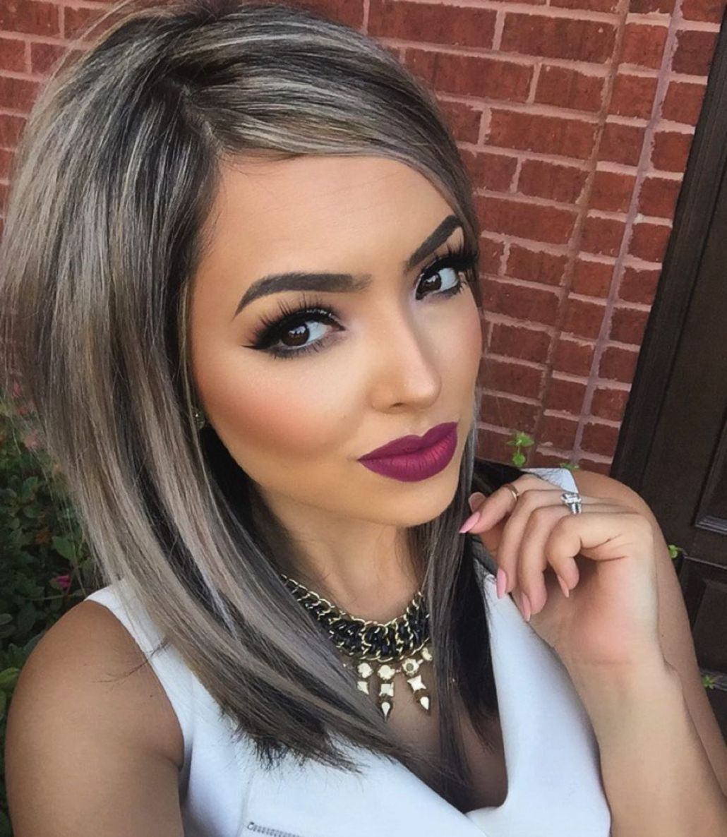 2020 Best Lace Front Wigs Grey Purple Ombre Amla Powder For Grey Hair F437 Wig Color Purple 360 Lace Wig