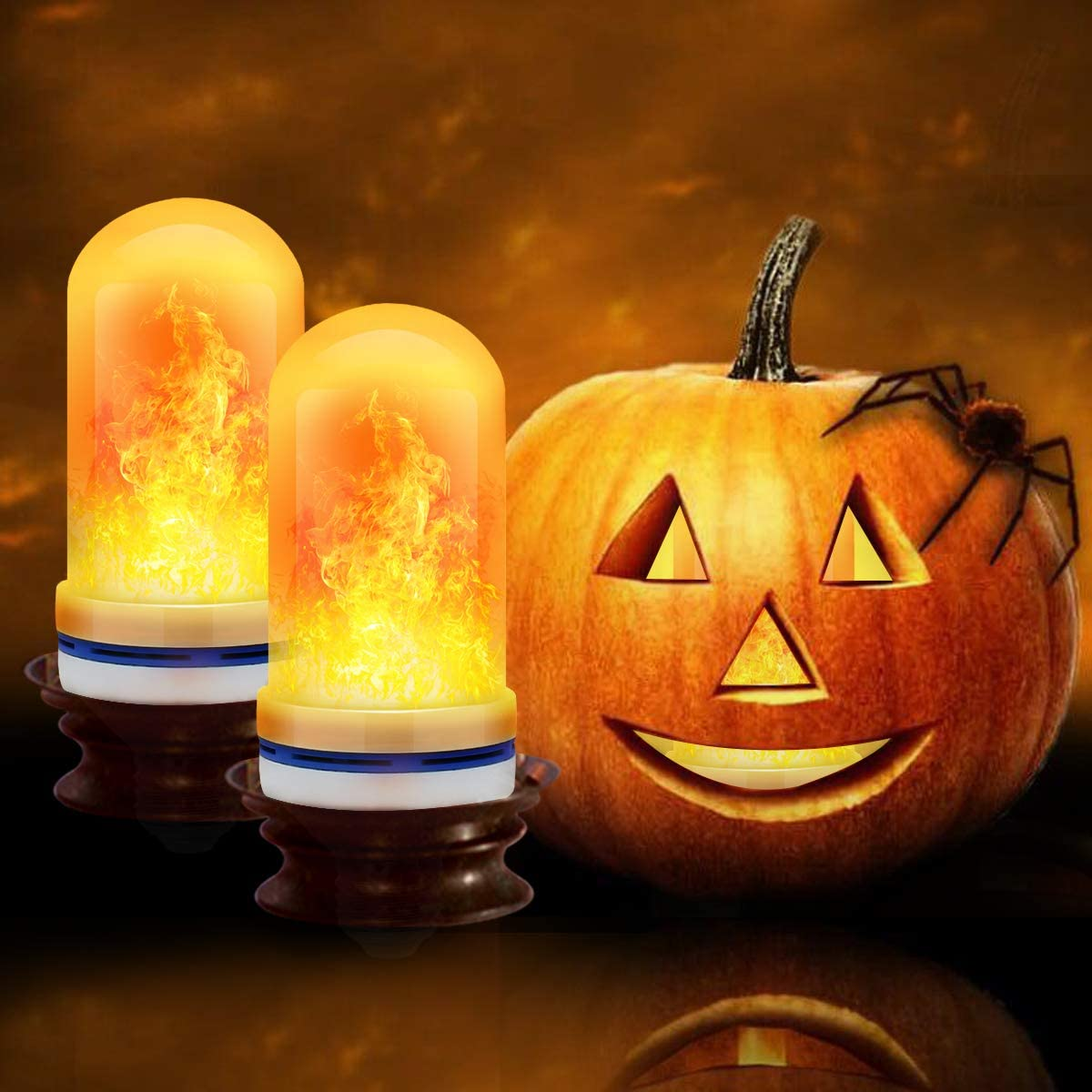 🔥Halloween Sales 50% Off🔥LED Gravity Effect Fire Light Bulbs