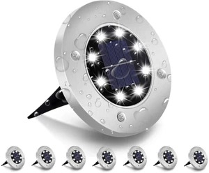 EARLYEASTER PROMOTION -8 LED Solar Ground Lights