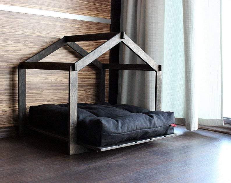 Dog house - Skeleton Lounge. Modern dog house, dog bed, pet house, pet bed, dog bed house, house bed, new dog gift, dog pillow